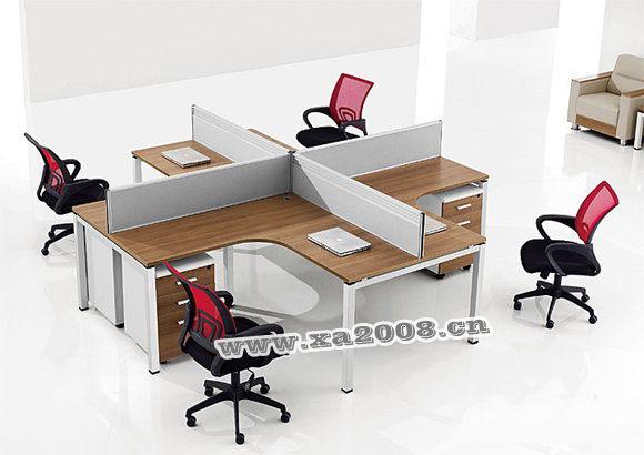 厂家设计办公室工位-办公室隔断-屏风办公桌摆放效果图